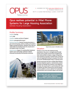 Genesis Housing Association Case Study