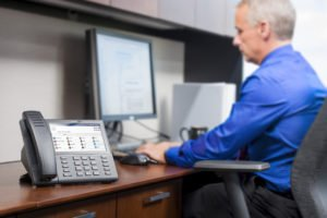 Mitel customer working remotely