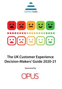 The UK Customer Experience Decision Makers Guide 2020-2021